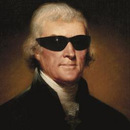 THOMAS JEFFERSON - with sunglasses