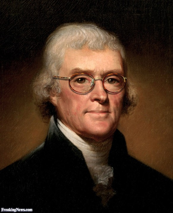 THOMAS JEFFERSON - with reading glasses